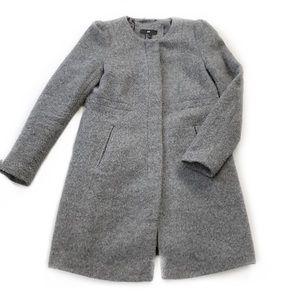 H&M • Collarless Wool Blend Coat